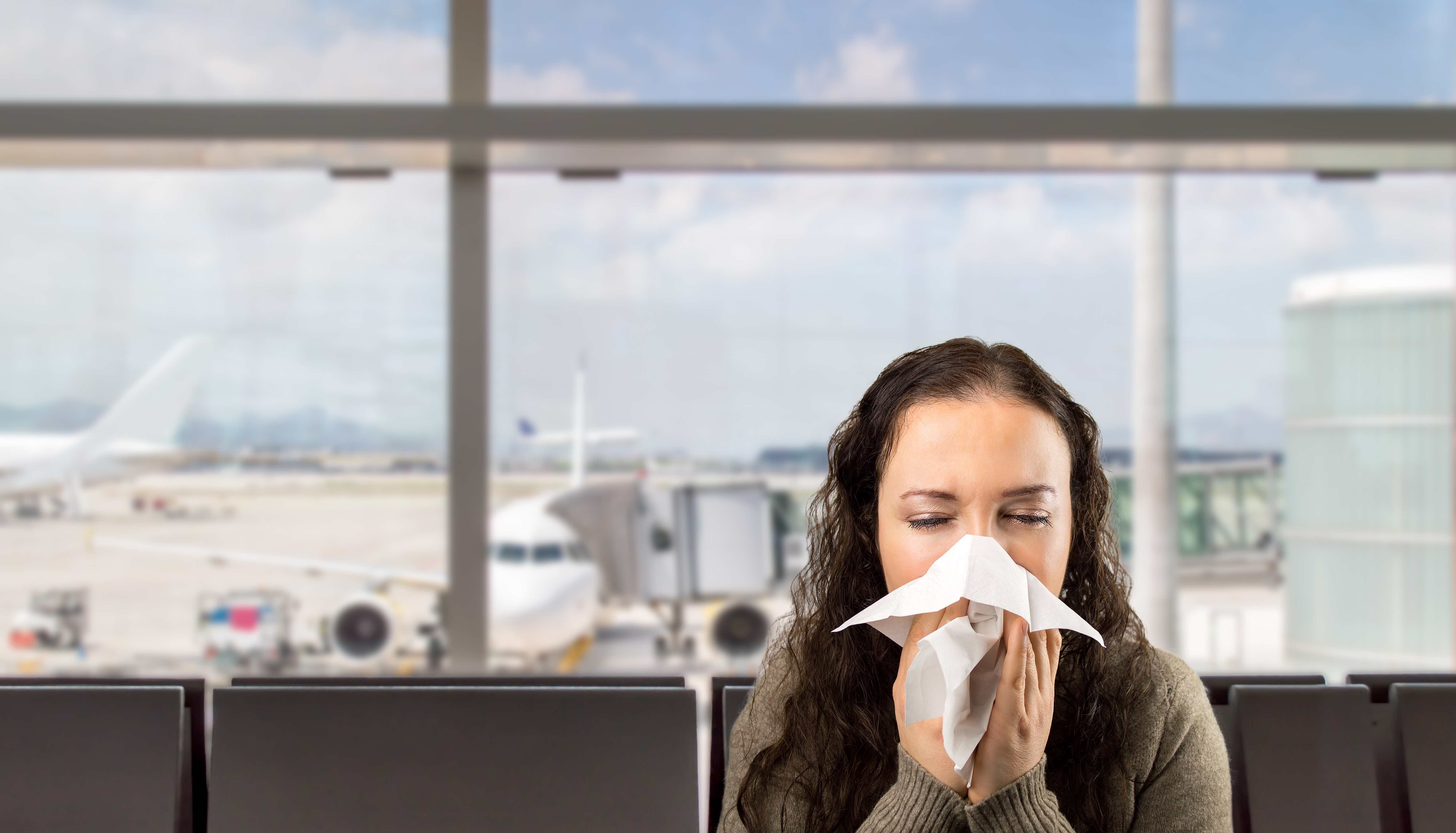 Travel tips for not getting sick on a plane