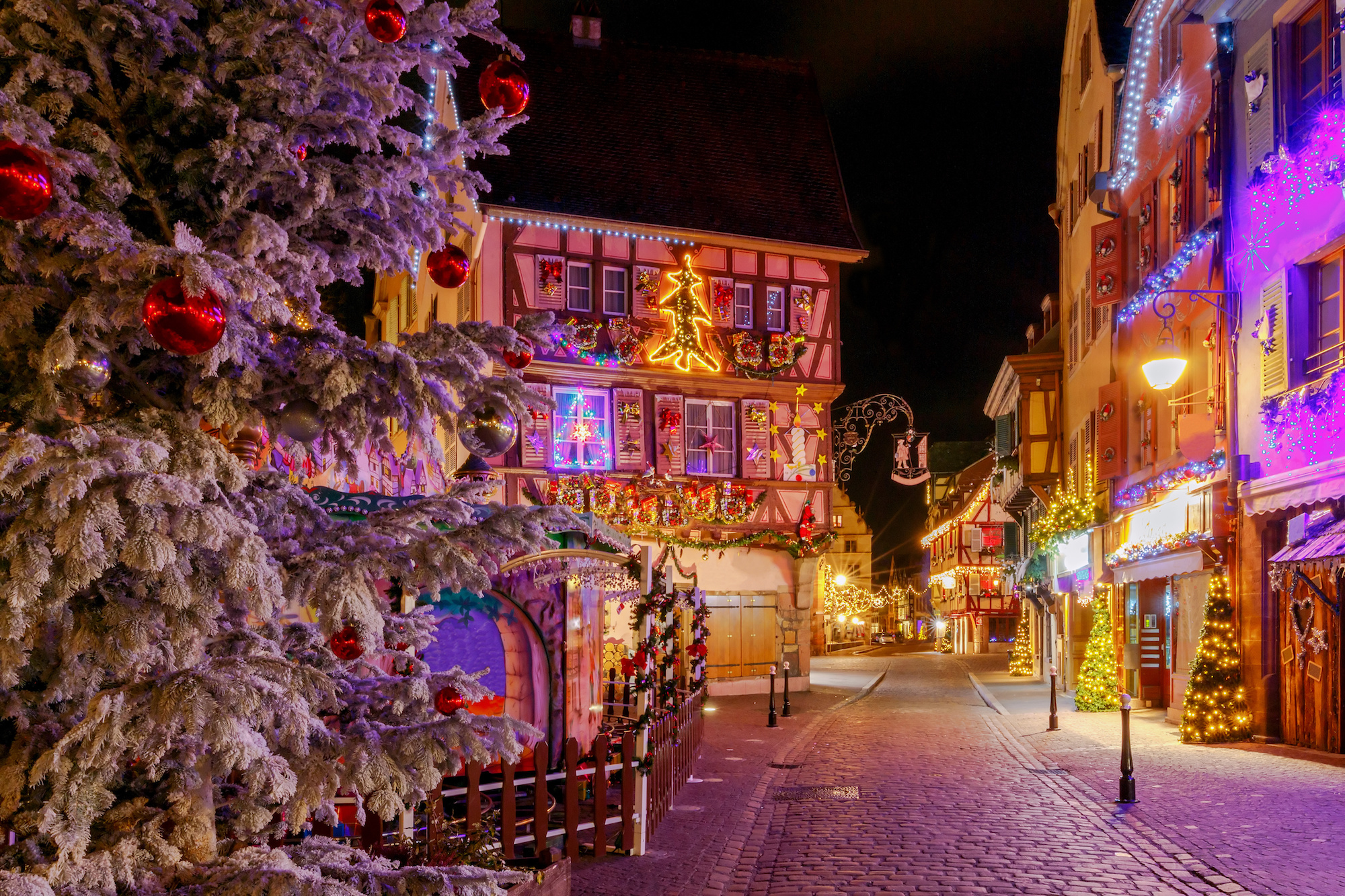 Colmar on Christmas Eve.